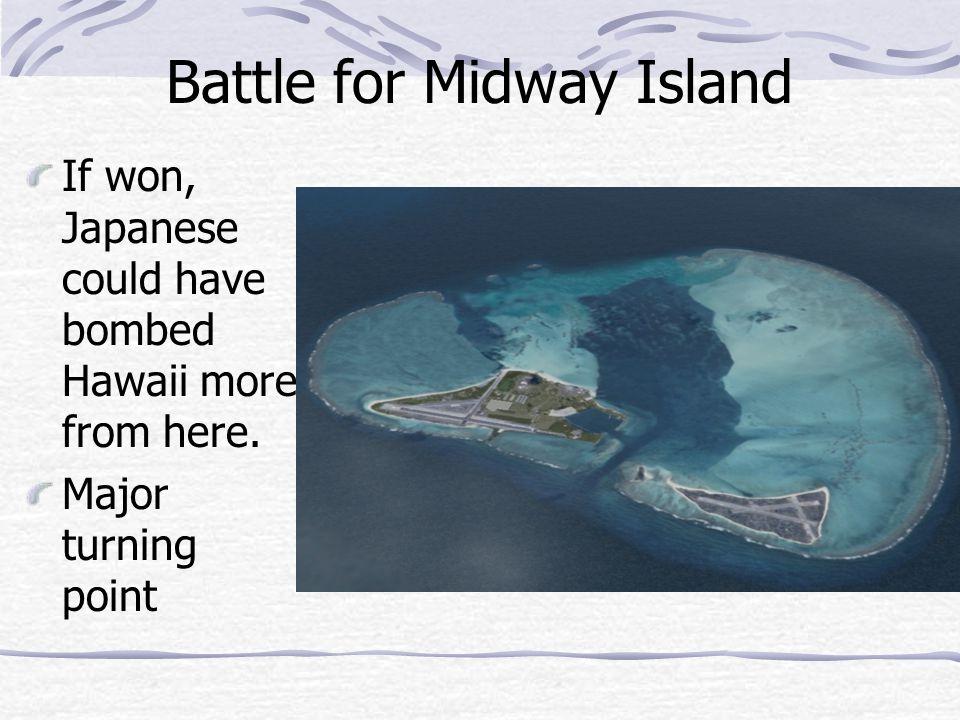 Island Hopping – US fought to gradually reach Japan