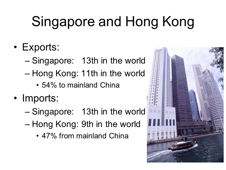Economic development Singapore and Hong Kong –have achieved similar economic success –through very different economic approaches path of economic development diverged after World War II –similar experience under British colonial rule –divergent political development after WWII –divergent economic models after 1960s