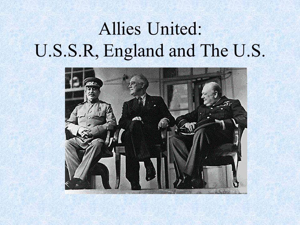 U. S. Involved In War