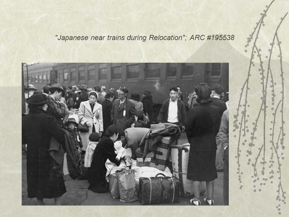 Japanese family heads and persons living alone form a line outside the station located in the Japanese American Citizens League Auditorium at 2031 Bush Street, to appear for processing in response to Civilian Exclusion Order Number 20.