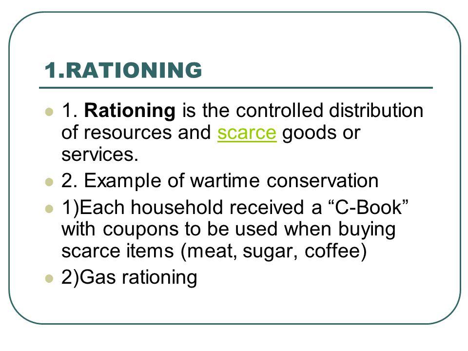 1.RATIONING 1.