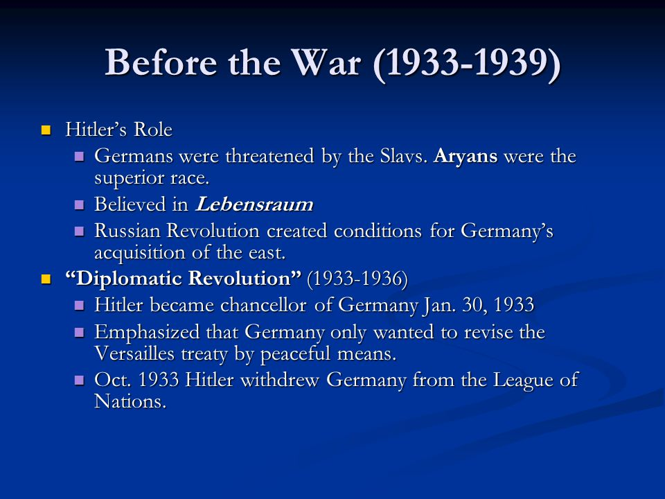 The New Order The Holocaust The Holocaust Racial struggle was a key element in Hitler's ideology: Aryan Vs Jews Racial struggle was a key element in Hitler's ideology: Aryan Vs Jews By the beginning of 1939, Nazi policy focused on promoting emigration of German Jews from Germany.
