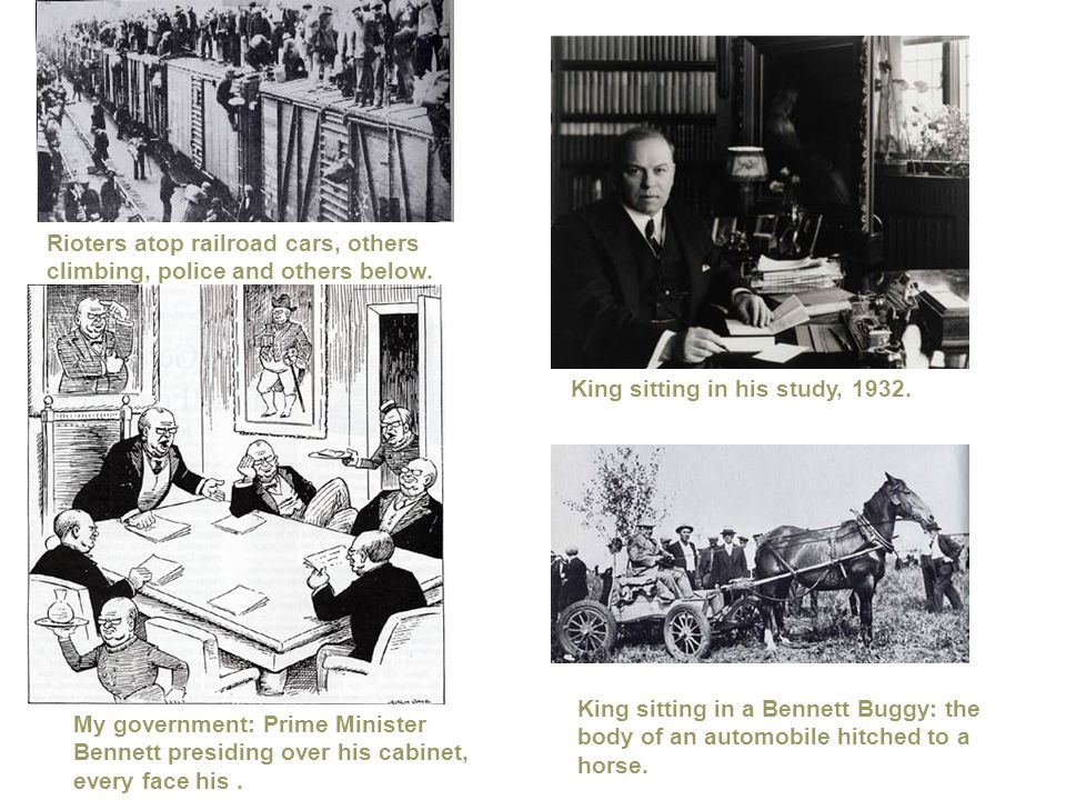 Rioters atop railroad cars, others climbing, police and others below. My government: Prime Minister Bennett presiding over his cabinet, every face his