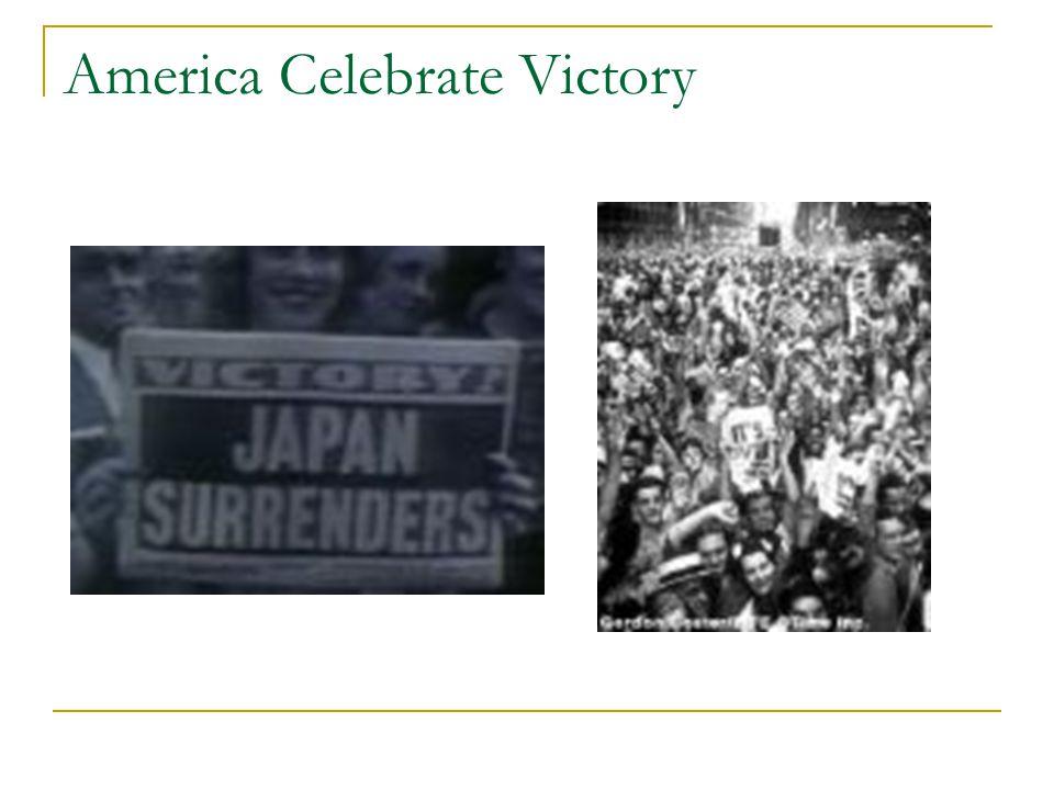 America Celebrate Victory