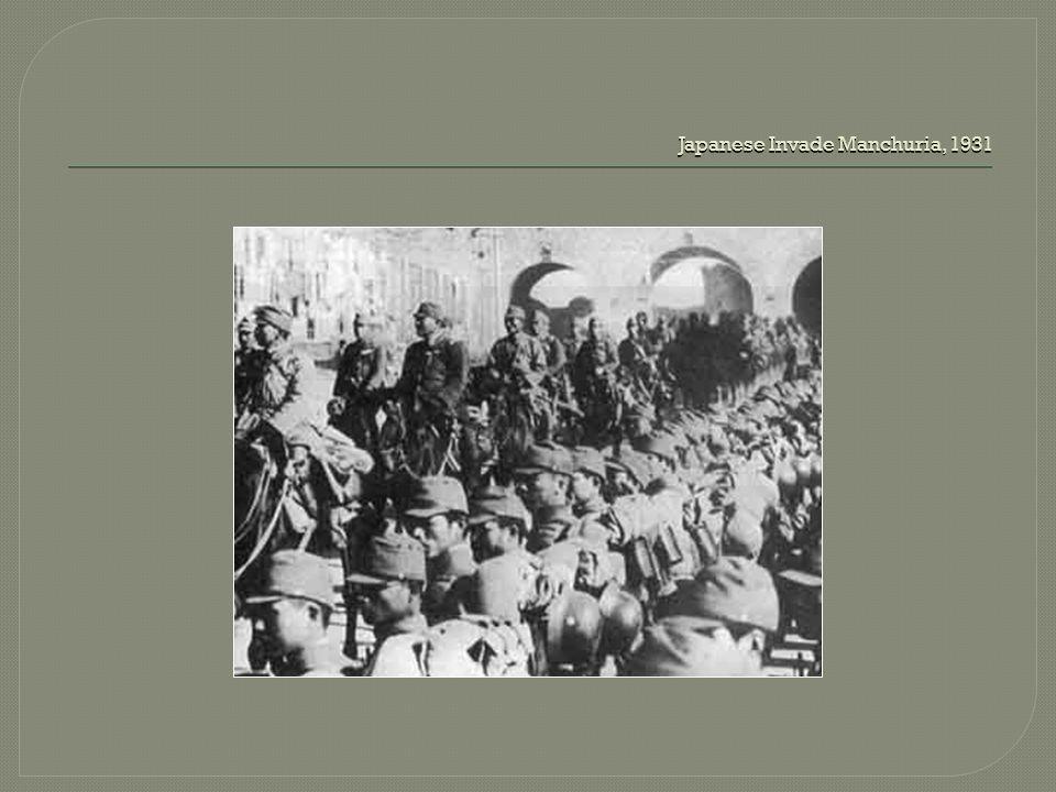 Japanese Invade Manchuria, 1931