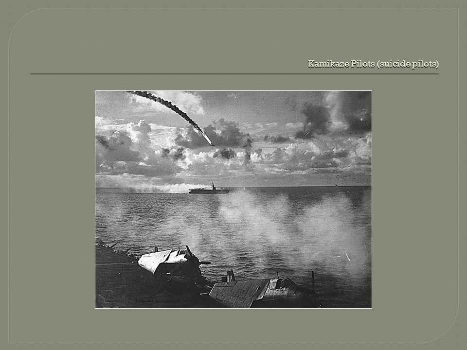 Kamikaze Pilots (suicide pilots)