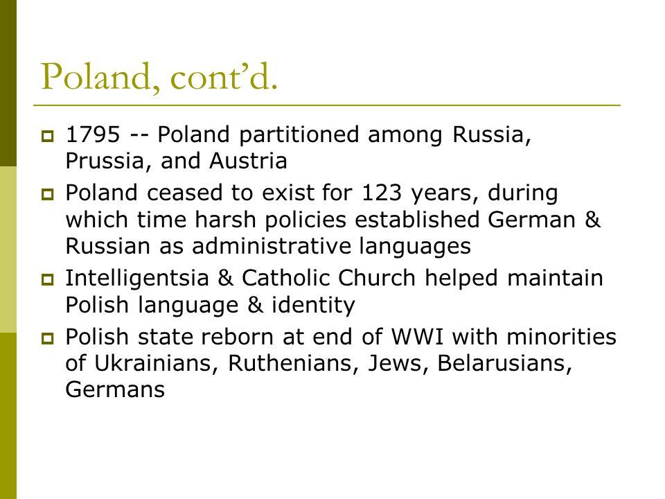 Poland, cont'd.