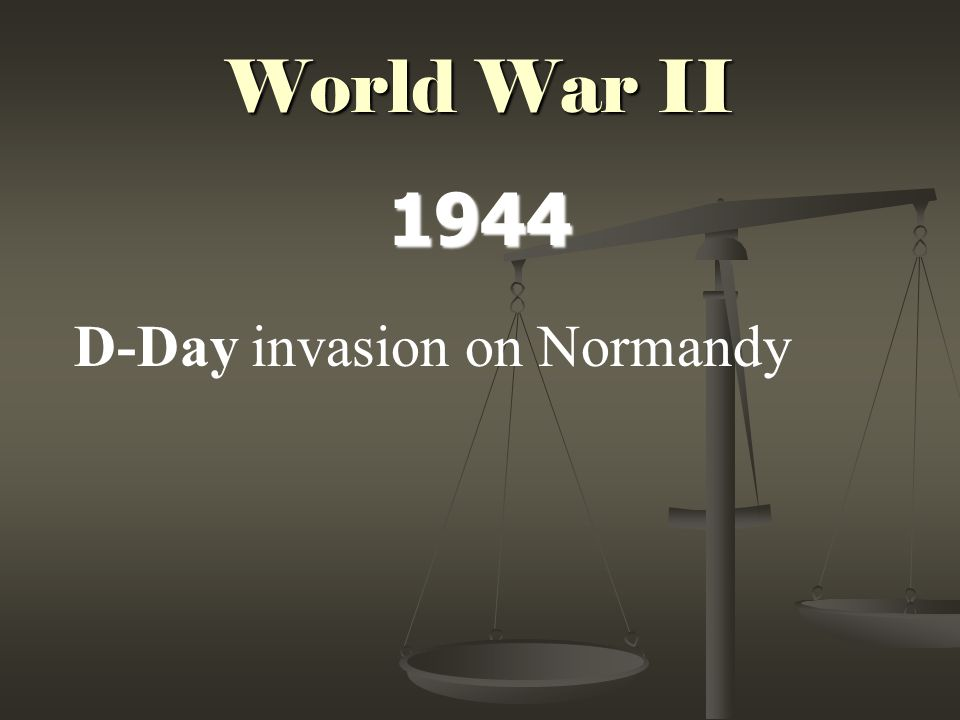 World War II 1944 D-Day invasion on Normandy