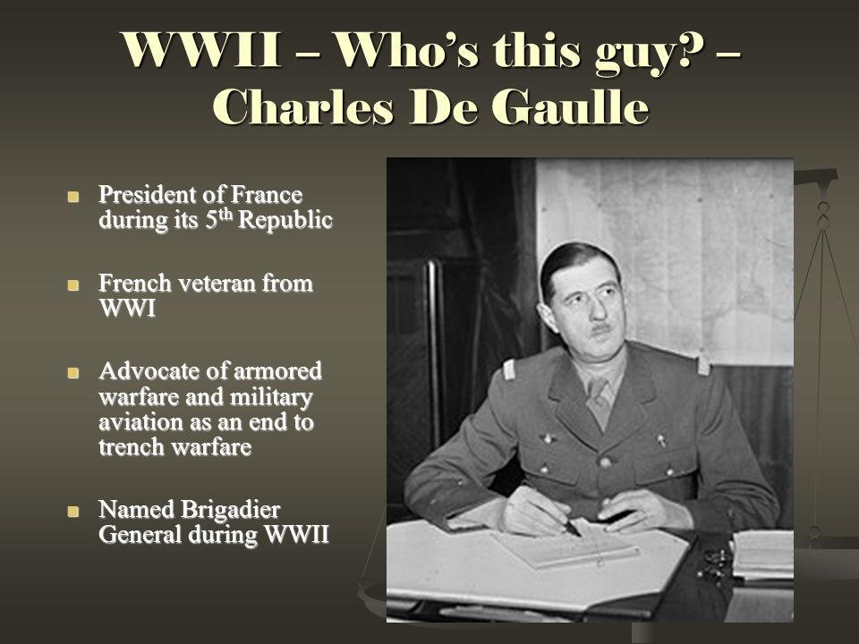 WWII – Who's this guy.