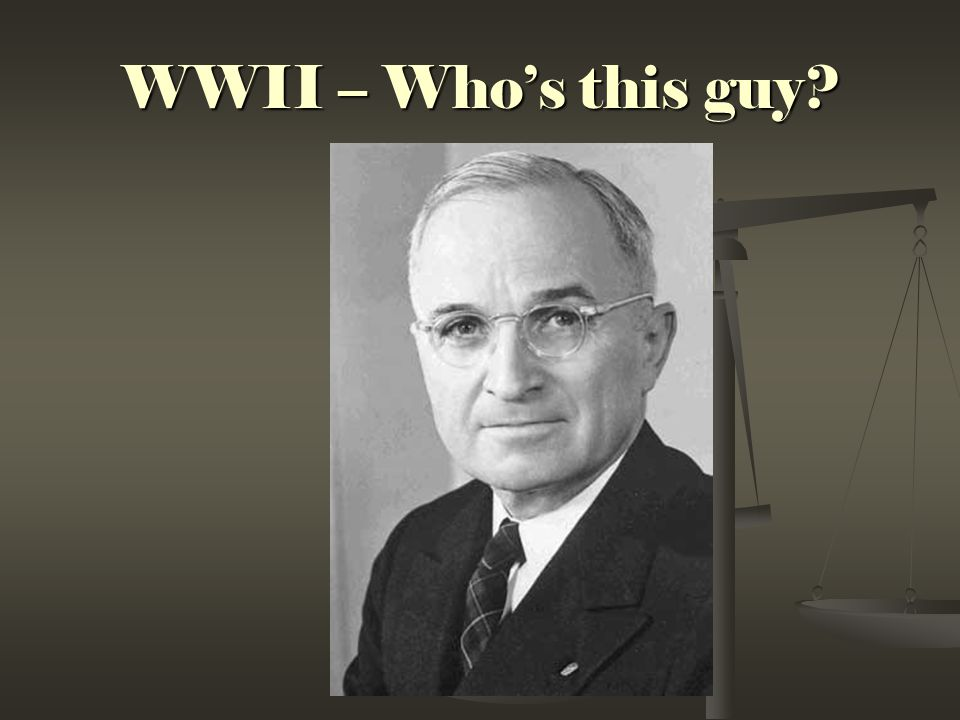 WWII – Who's this guy?