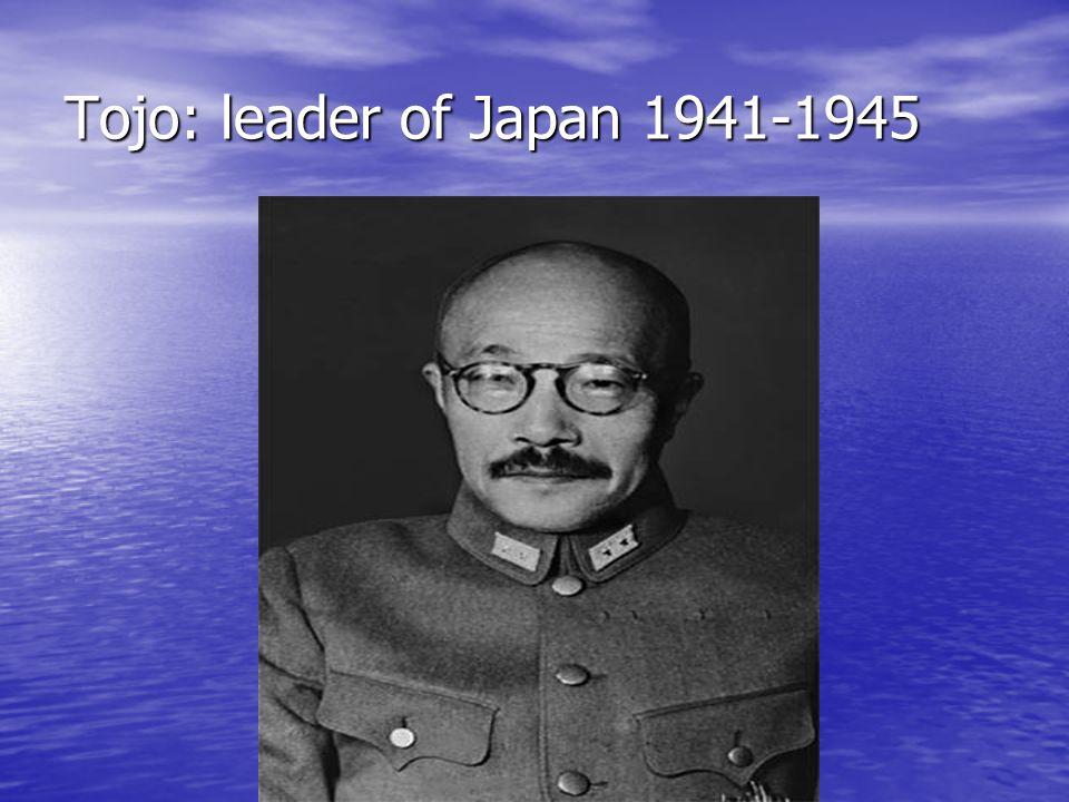 Tojo: leader of Japan 1941-1945