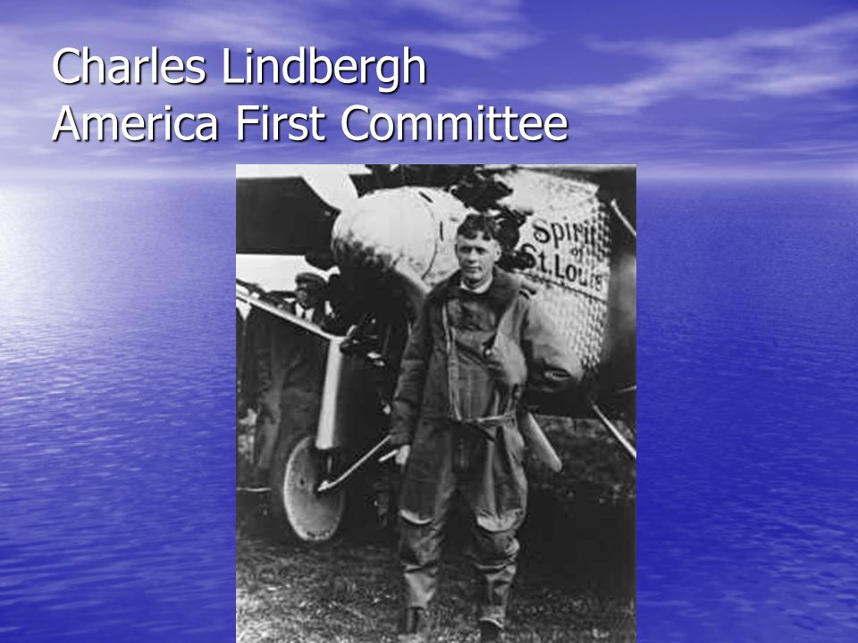 Charles Lindbergh America First Committee