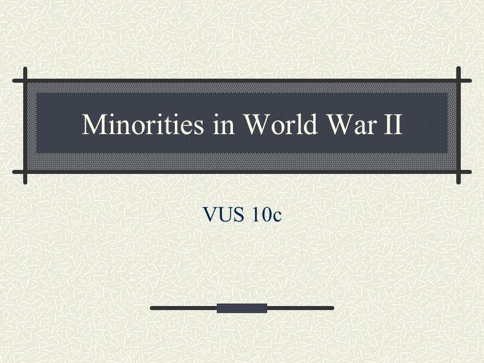 Minorities in World War II VUS 10c