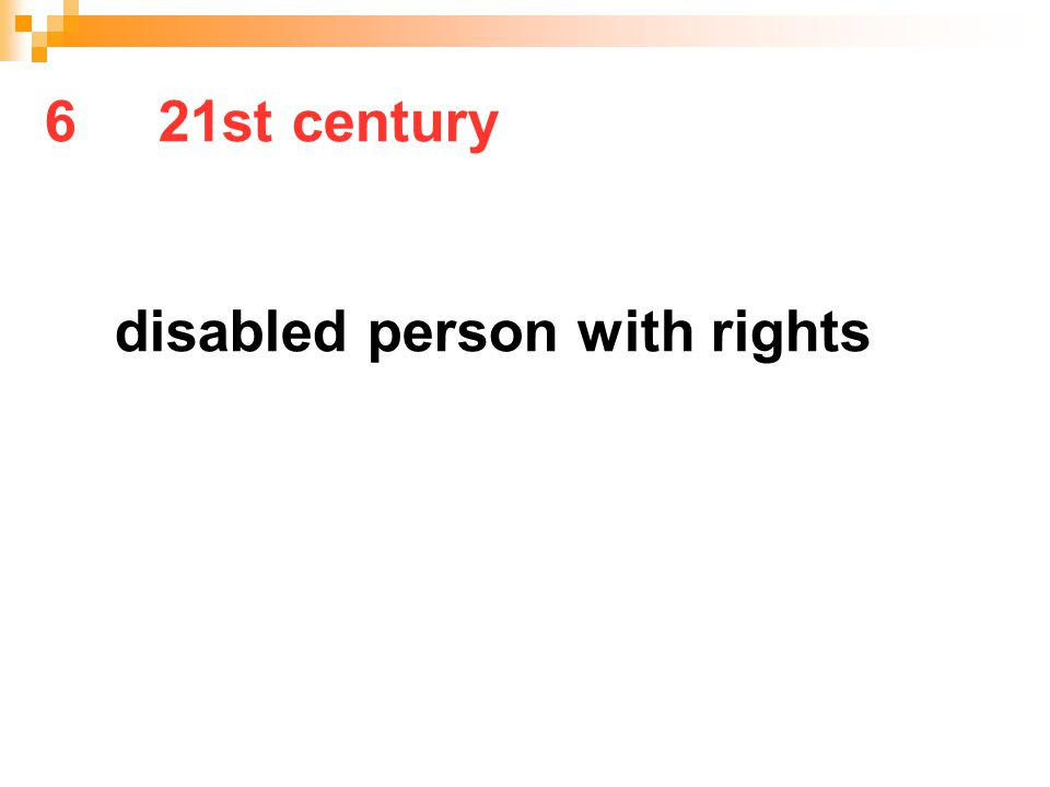 6 21st century disabled person with rights