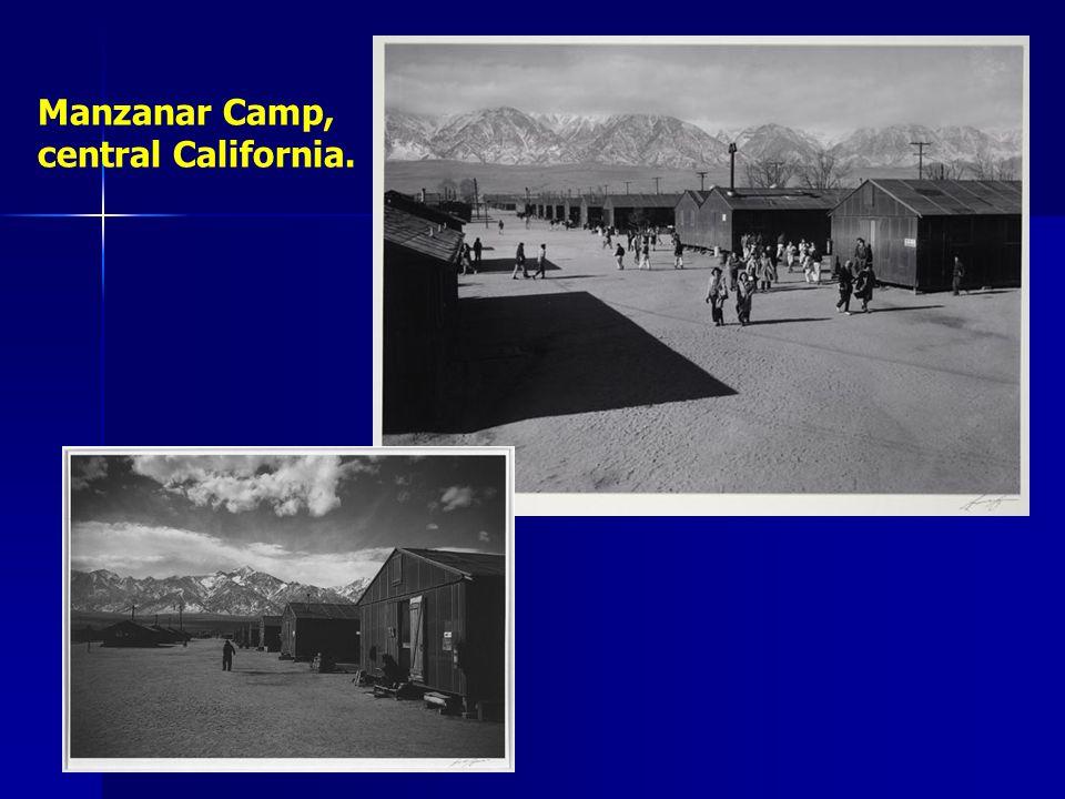 Manzanar Camp, central California.