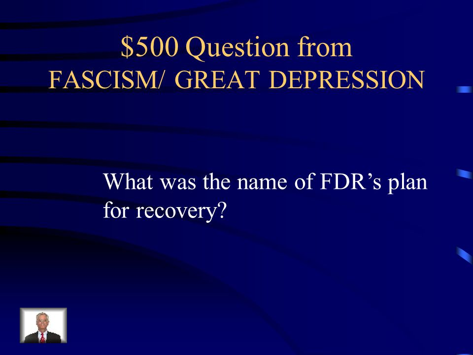 $400 Answer from FASCISM/ GREAT DEPRESSION - Over-production - Stock Market Crash in 1929