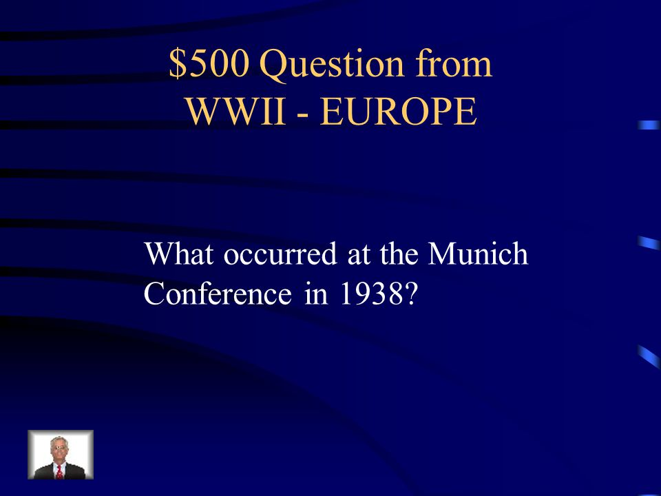 $400 Answer from WWII - EUROPE The Nazi attempt to destroy the British air force in preparation for an invasion of Great Britain. They failed.