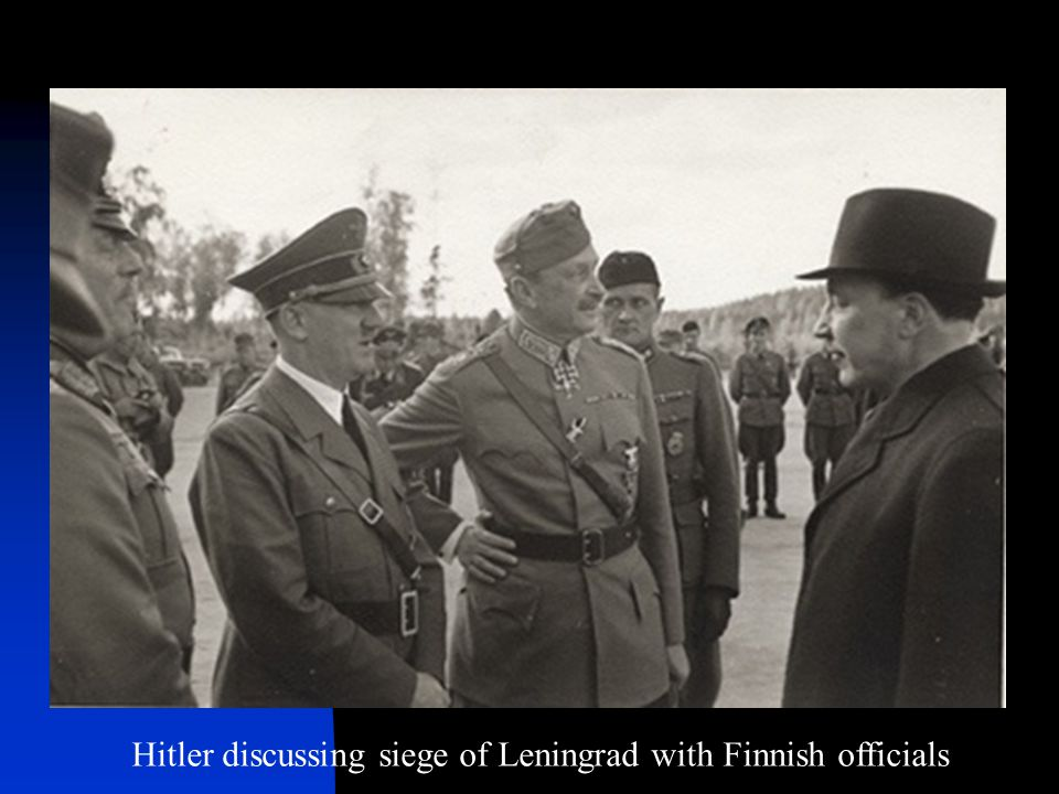Hitler discussing siege of Leningrad with Finnish officials