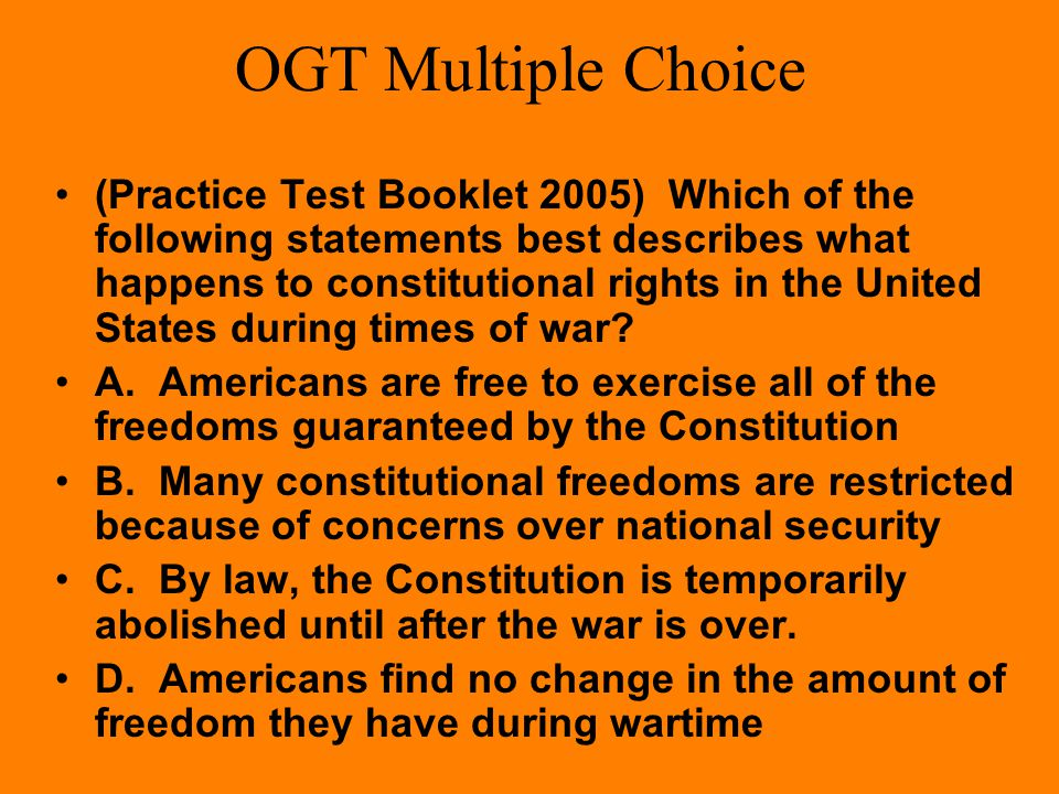 OGT Multiple Choice Which was NOT a way the U.S. raised money for World War II? A. taxes were raised B. war bonds were sold C. the government forced p