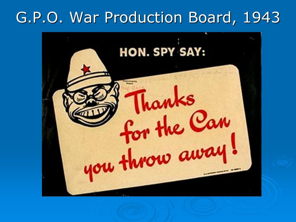 G.P.O. War Production Board, 1943