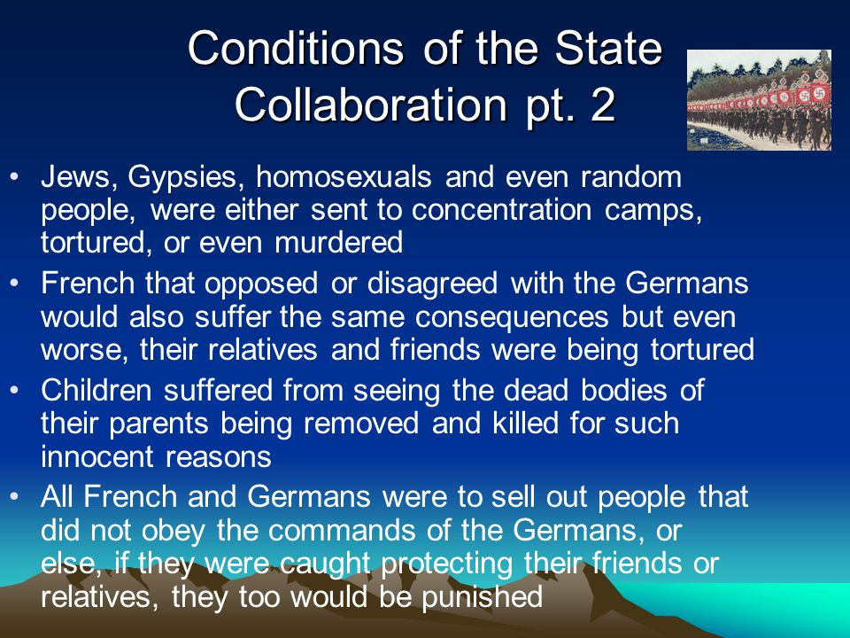 Conditions of the State Collaboration pt.