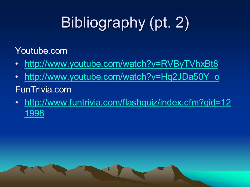 Bibliography (pt.