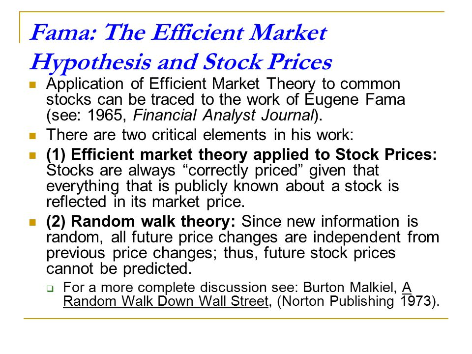 Short Bio on Eugene Fama Eugene Fama (born February 14, 1939), an American economist, best known for his work on portfolio theory and asset pricing, b