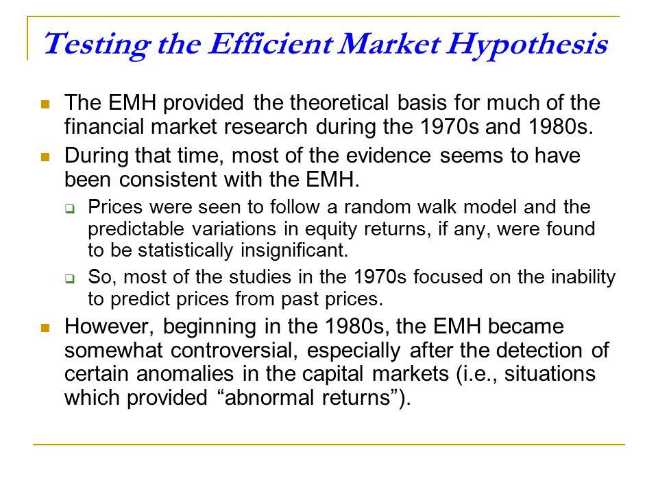 Appendix 2 Testing the Efficient Market Hypothesis