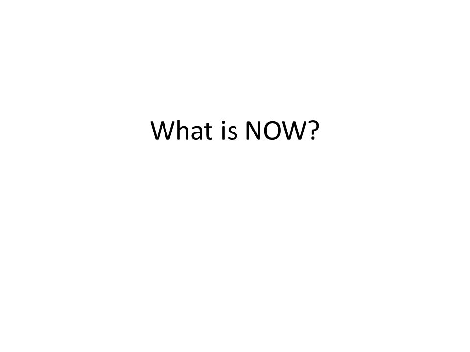 What is NOW?