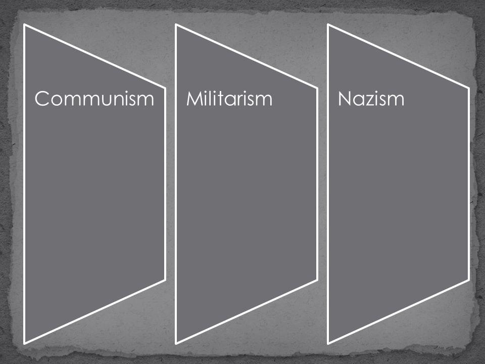 CommunismMilitarismNazism