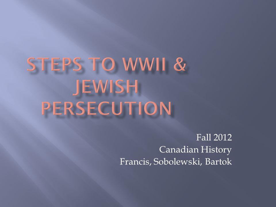Fall 2012 Canadian History Francis, Sobolewski, Bartok