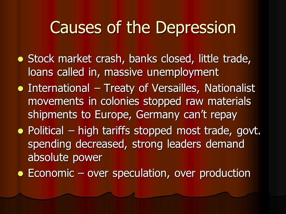 The Great Depression World economy based on U.S.World economy based on U.S.