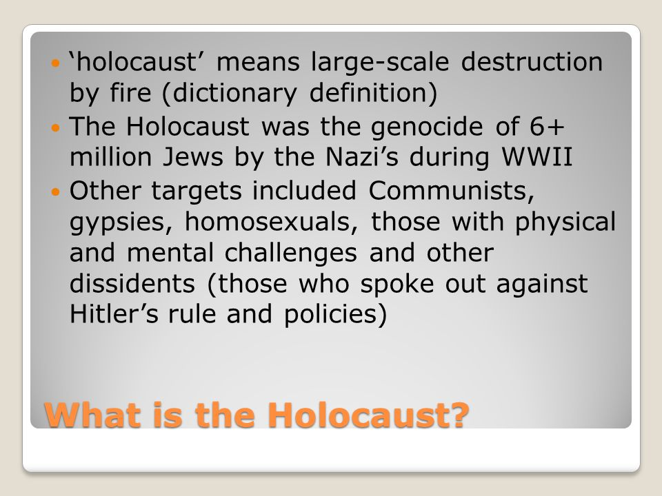 What is the Holocaust.