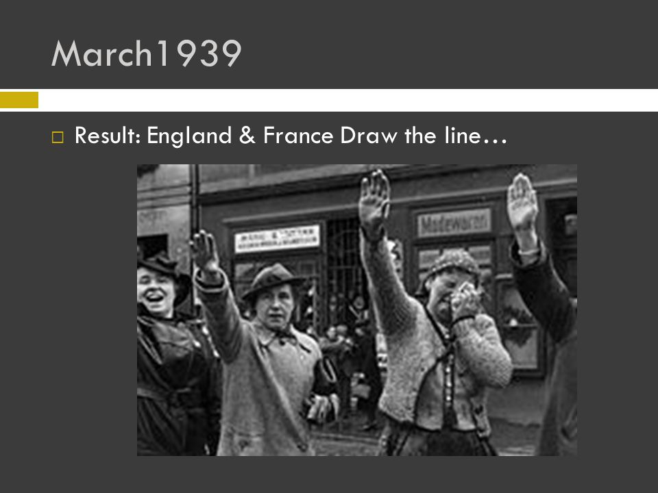 March1939  Result: England & France Draw the line…