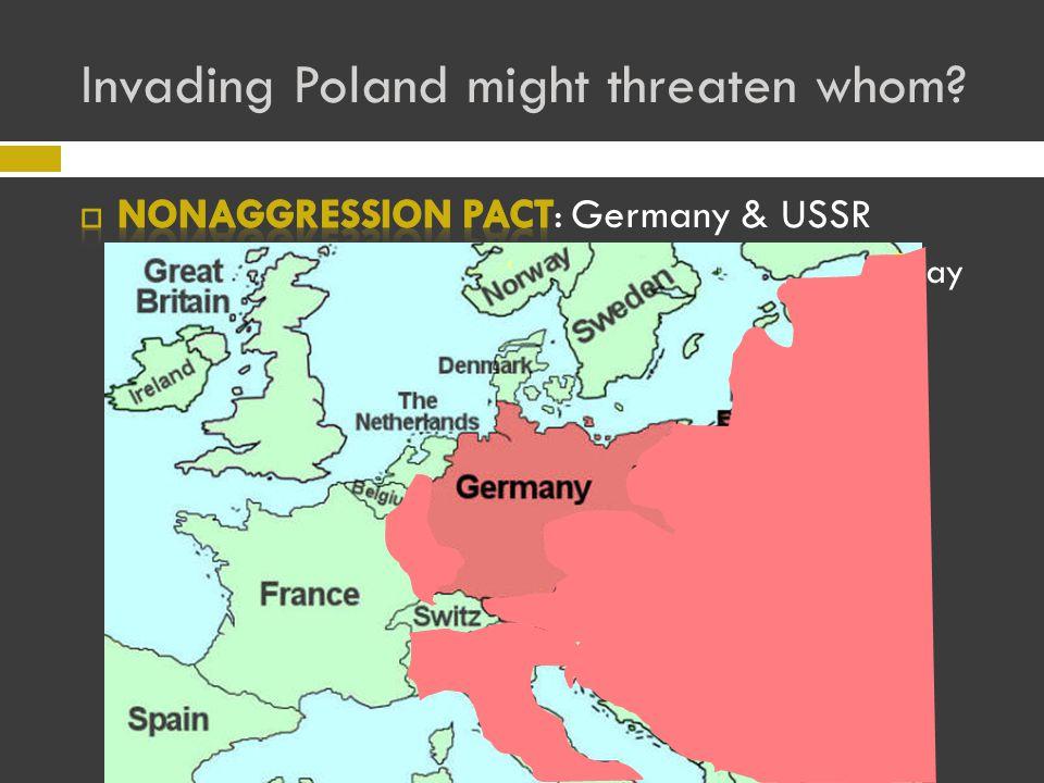 Invading Poland might threaten whom?