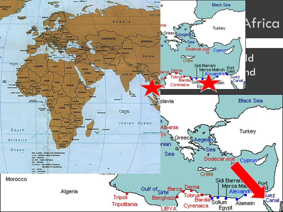 AAfter France fell, the fight shifted to whom would control the Mediterranean Sea, North Africa, and the Suez Canal IItaly, in Libya, tried to flush out the British from Egypt TThey failed