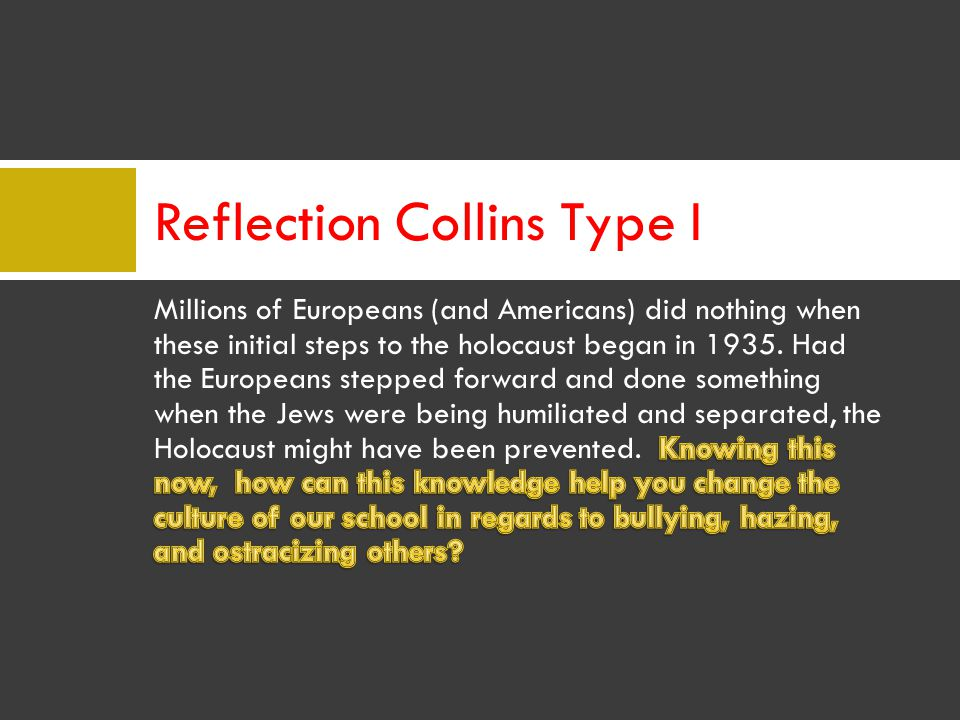 Reflection Collins Type I