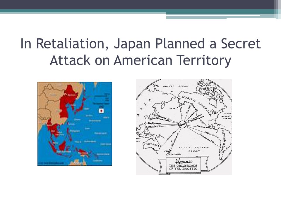 In response to Japanese Aggression… President Roosevelt U.S.