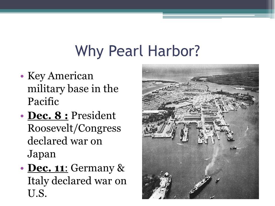 Why Pearl Harbor, Hawaii