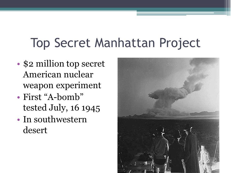 Top Secret Manhattan Project Harry S.