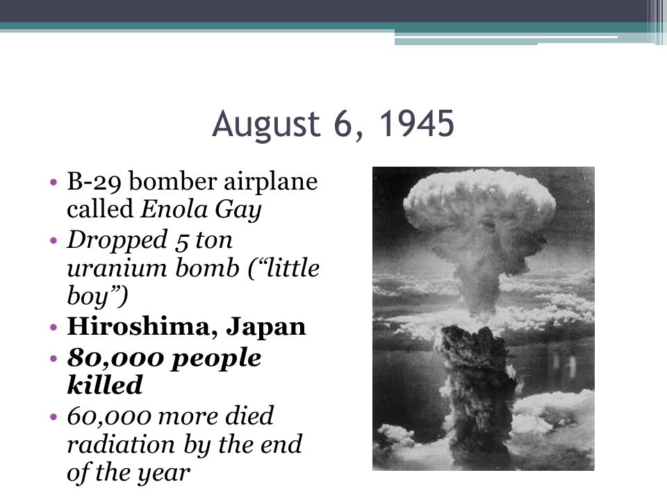 President Truman's Choice Ordered military to drop A-Bomb on Japan If they didn't surrender by August 3.