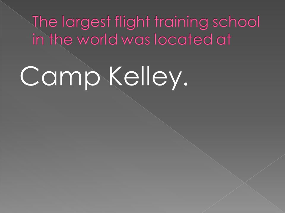 Camp Kelley.