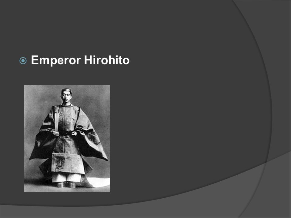  I was the Emperor of Japan