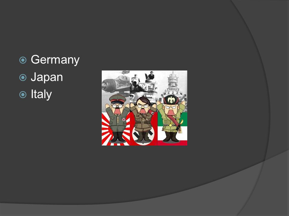 Alliances  These countries made up the Axis Powers