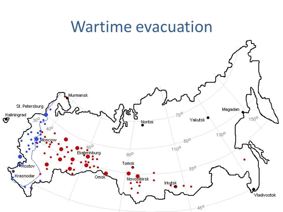 Wartime evacuation
