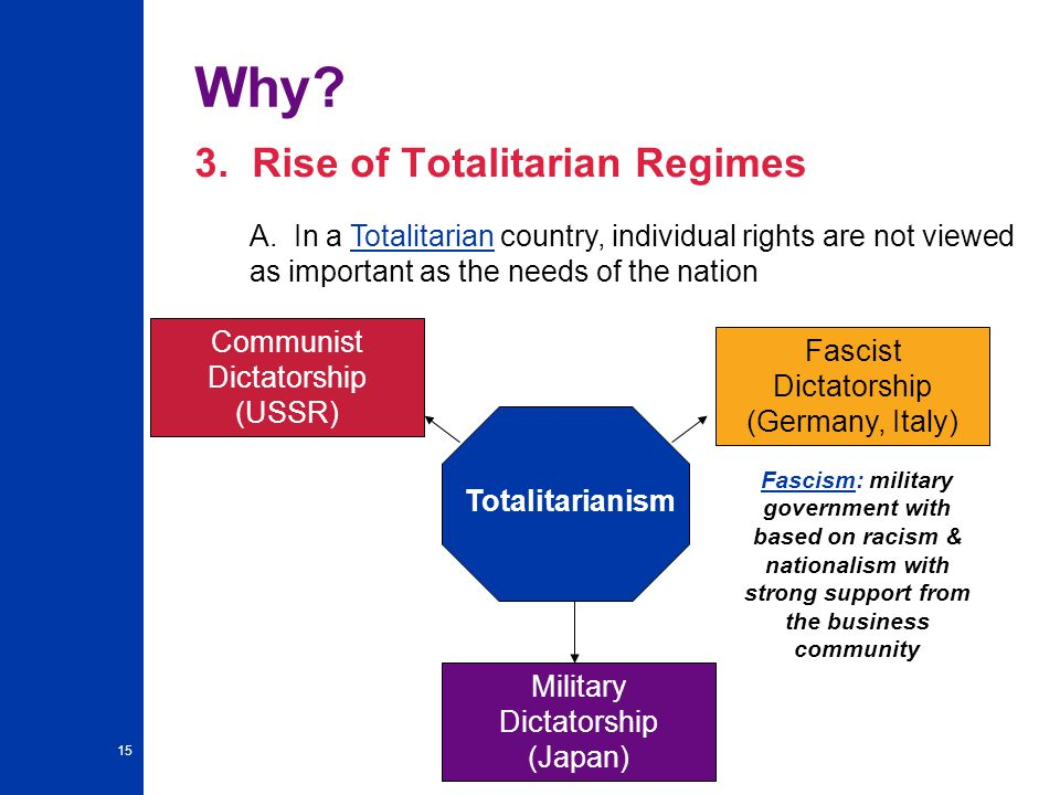 15 Why.3. Rise of Totalitarian Regimes A.