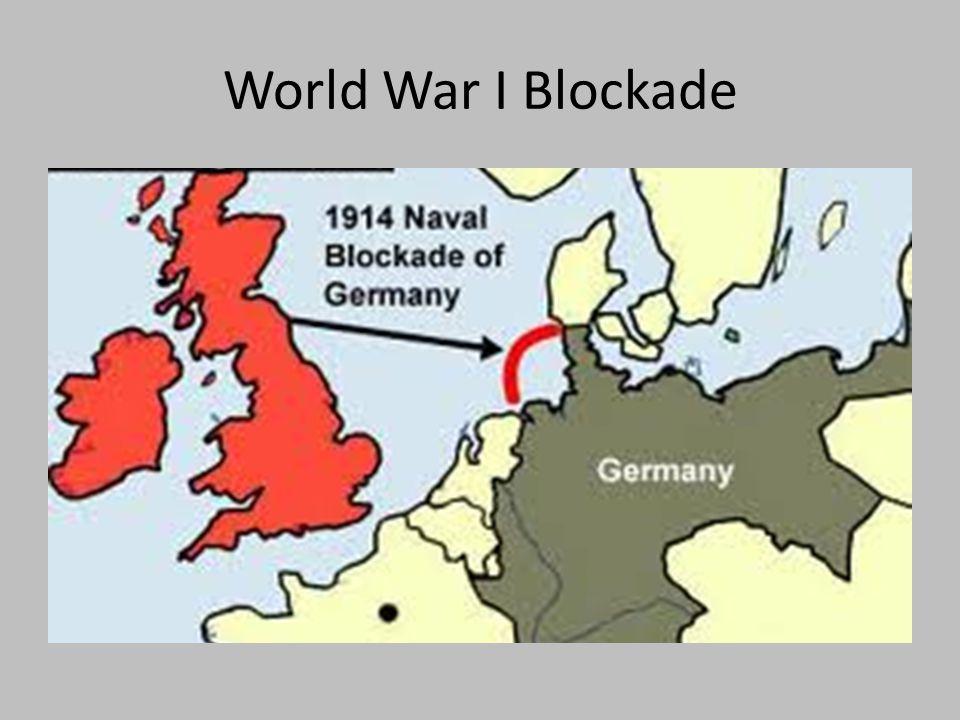 World War I Blockade