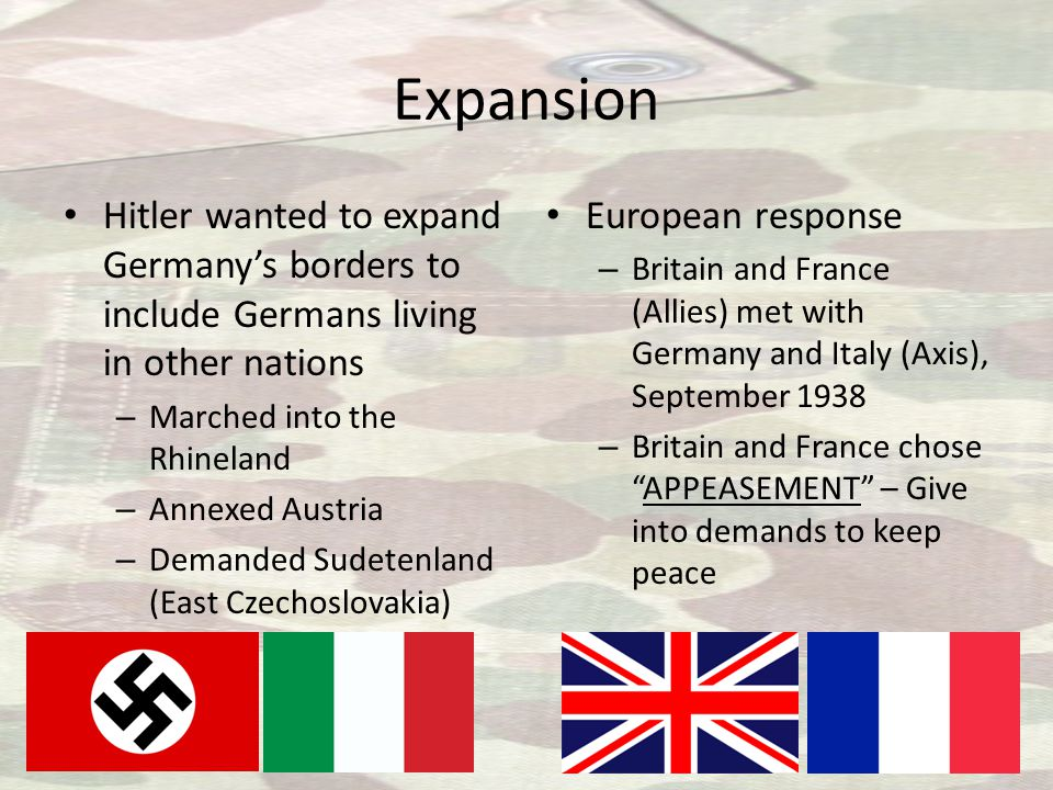 Causes of WWII. Background – TOTALITARIANISM – Form of government ...