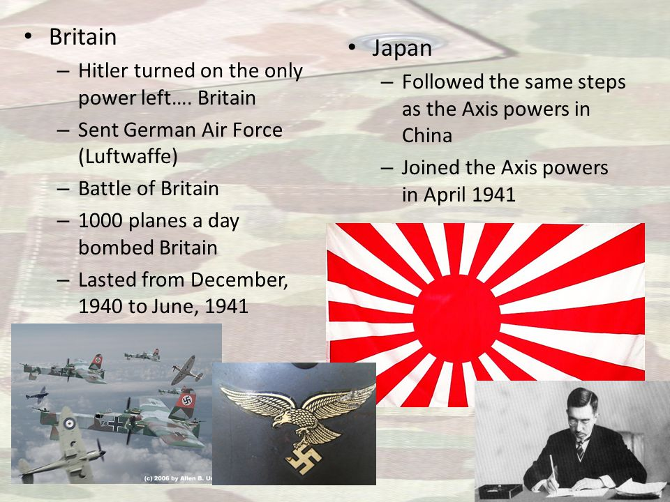 Britain – Hitler turned on the only power left….