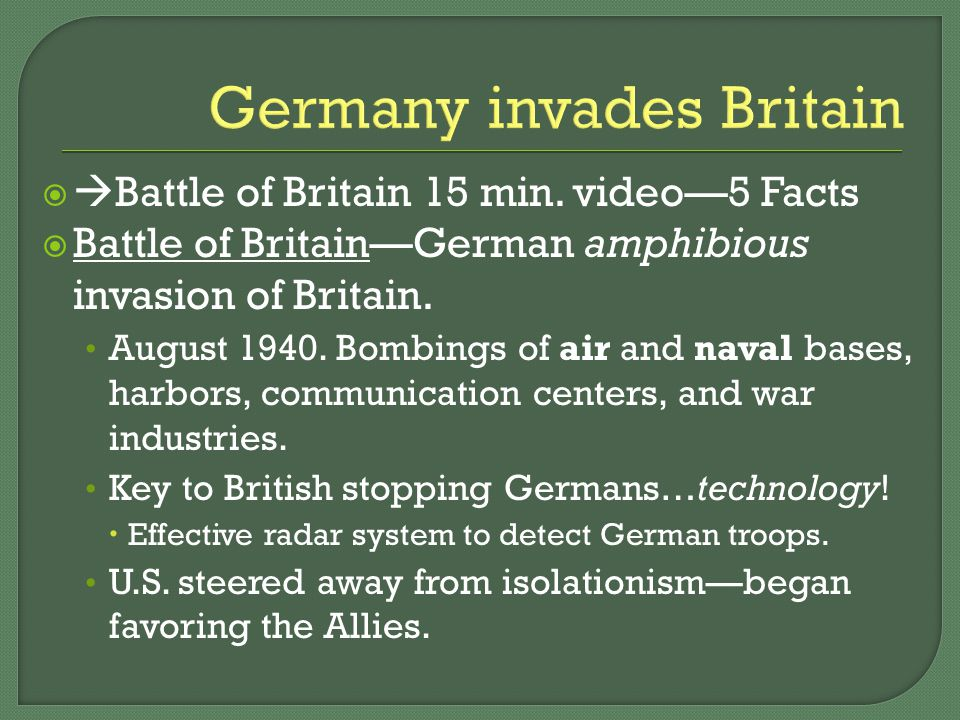 Germany invades Britain   Battle of Britain 15 min.